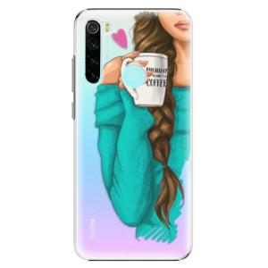 Plastové pouzdro iSaprio - My Coffe and Brunette Girl na mobil Xiaomi Redmi Note 8