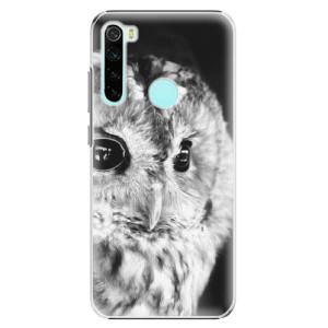 Plastové pouzdro iSaprio - BW Owl na mobil Xiaomi Redmi Note 8
