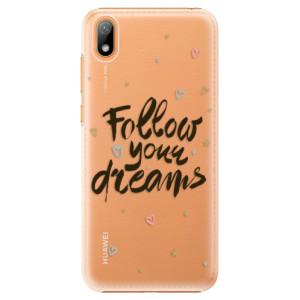 Plastové pouzdro iSaprio - Follow Your Dreams - black na mobil Huawei Y5 2019