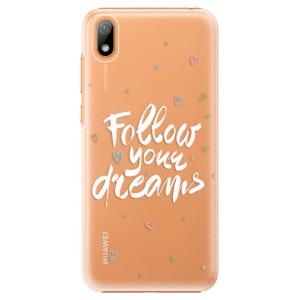 Plastové pouzdro iSaprio - Follow Your Dreams - white na mobil Huawei Y5 2019
