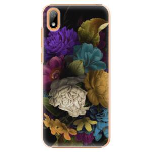 Plastové pouzdro iSaprio - Dark Flowers na mobil Huawei Y5 2019