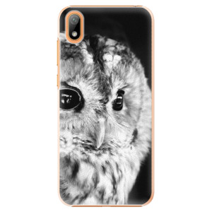 Plastové pouzdro iSaprio - BW Owl na mobil Huawei Y5 2019