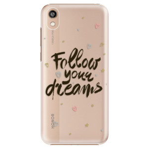 Plastové pouzdro iSaprio - Follow Your Dreams - black na mobil Honor 8S