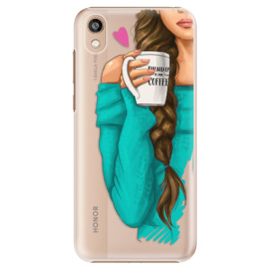 Plastové pouzdro iSaprio - My Coffe and Brunette Girl na mobil Honor 8S