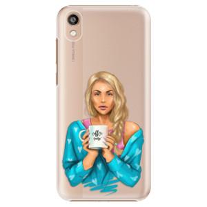 Plastové pouzdro iSaprio - Coffe Now - Blond na mobil Honor 8S