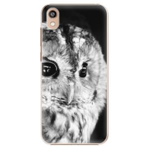 Plastové pouzdro iSaprio - BW Owl na mobil Honor 8S