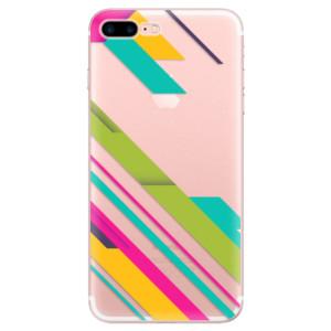 Silikonové odolné pouzdro iSaprio - Color Stripes 03 na mobil Apple iPhone 7 Plus