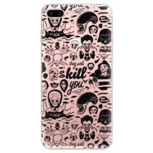 Silikonové odolné pouzdro iSaprio - Comics 01 - black na mobil Apple iPhone 7 Plus