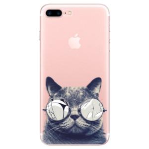 Silikonové odolné pouzdro iSaprio - Crazy Cat 01 na mobil Apple iPhone 7 Plus