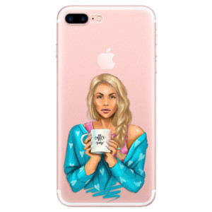 Silikonové odolné pouzdro iSaprio - Coffe Now - Blond na mobil Apple iPhone 7 Plus