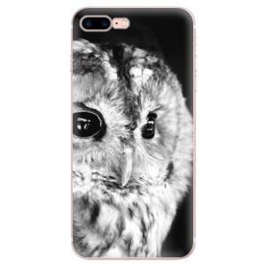 Silikonové odolné pouzdro iSaprio - BW Owl na mobil Apple iPhone 7 Plus