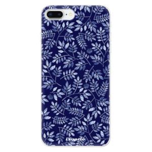 Silikonové odolné pouzdro iSaprio - Blue Leaves 05 na mobil Apple iPhone 8 Plus