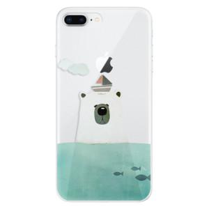 Silikonové odolné pouzdro iSaprio - Bear With Boat na mobil Apple iPhone 8 Plus