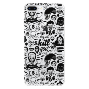 Silikonové odolné pouzdro iSaprio - Comics 01 - black na mobil Apple iPhone 8 Plus