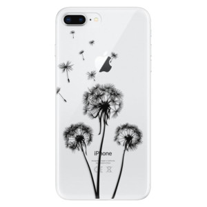 Silikonové odolné pouzdro iSaprio - Three Dandelions - black na mobil Apple iPhone 8 Plus