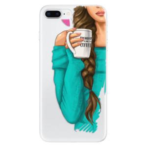 Silikonové odolné pouzdro iSaprio - My Coffe and Brunette Girl na mobil Apple iPhone 8 Plus