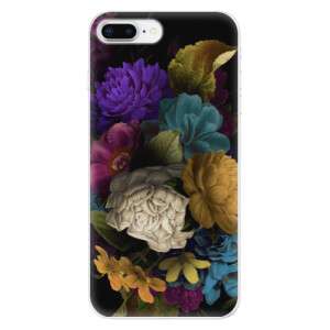 Silikonové odolné pouzdro iSaprio - Dark Flowers na mobil Apple iPhone 8 Plus