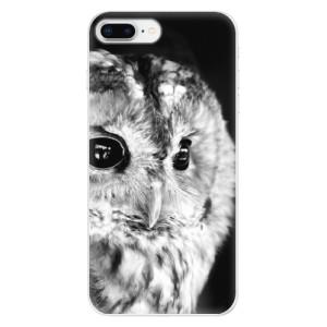 Silikonové odolné pouzdro iSaprio - BW Owl na mobil Apple iPhone 8 Plus