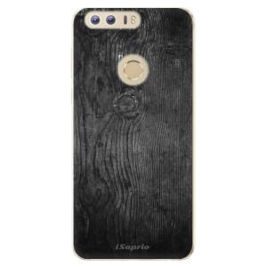 Silikonové odolné pouzdro iSaprio - Black Wood 13 na mobil Honor 8