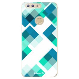 Silikonové odolné pouzdro iSaprio - Abstract Squares 11 na mobil Honor 8