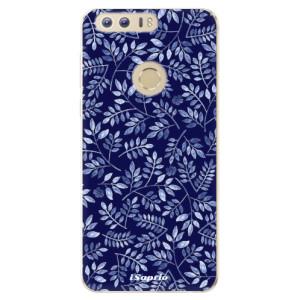Silikonové odolné pouzdro iSaprio - Blue Leaves 05 na mobil Honor 8