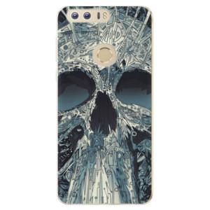 Silikonové odolné pouzdro iSaprio - Abstract Skull na mobil Honor 8