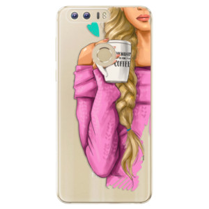 Silikonové odolné pouzdro iSaprio - My Coffe and Blond Girl na mobil Honor 8