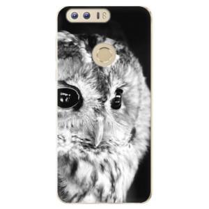 Silikonové odolné pouzdro iSaprio - BW Owl na mobil Honor 8