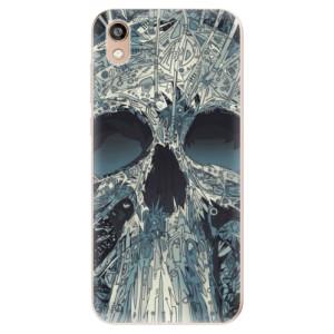 Silikonové odolné pouzdro iSaprio - Abstract Skull na mobil Honor 8S