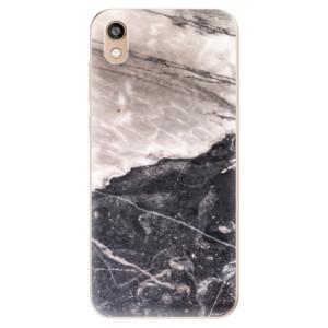 Silikonové odolné pouzdro iSaprio - BW Marble na mobil Honor 8S
