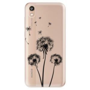 Silikonové odolné pouzdro iSaprio - Three Dandelions - black na mobil Honor 8S