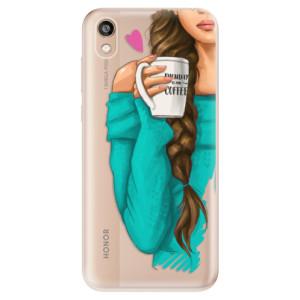 Silikonové odolné pouzdro iSaprio - My Coffe and Brunette Girl na mobil Honor 8S