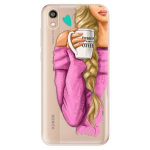 Silikonové odolné pouzdro iSaprio - My Coffe and Blond Girl na mobil Honor 8S
