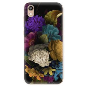 Silikonové odolné pouzdro iSaprio - Dark Flowers na mobil Honor 8S