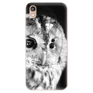 Silikonové odolné pouzdro iSaprio - BW Owl na mobil Honor 8S