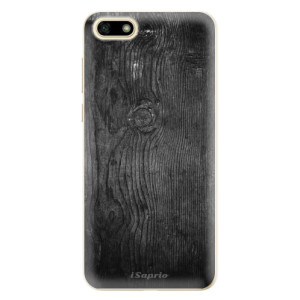 Silikonové odolné pouzdro iSaprio - Black Wood 13 na mobil Huawei Y5 2018