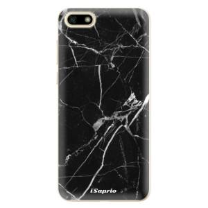 Silikonové odolné pouzdro iSaprio - Black Marble 18 na mobil Huawei Y5 2018