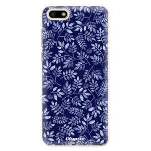 Silikonové odolné pouzdro iSaprio - Blue Leaves 05 na mobil Huawei Y5 2018