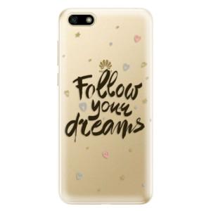 Silikonové odolné pouzdro iSaprio - Follow Your Dreams - black na mobil Huawei Y5 2018