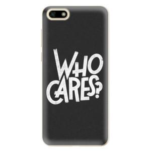 Silikonové odolné pouzdro iSaprio - Who Cares na mobil Huawei Y5 2018