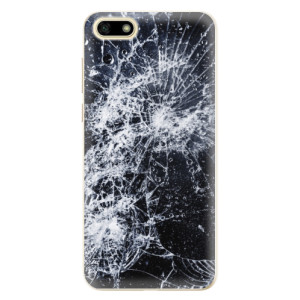 Silikonové odolné pouzdro iSaprio - Cracked na mobil Huawei Y5 2018