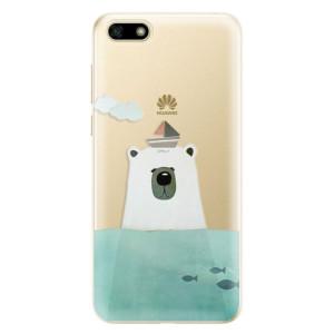 Silikonové odolné pouzdro iSaprio - Bear With Boat na mobil Huawei Y5 2018
