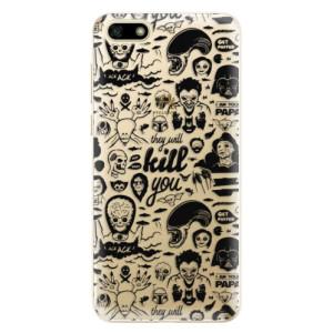 Silikonové odolné pouzdro iSaprio - Comics 01 - black na mobil Huawei Y5 2018