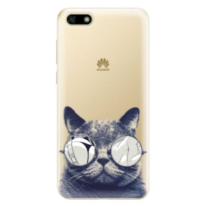 Silikonové odolné pouzdro iSaprio - Crazy Cat 01 na mobil Huawei Y5 2018