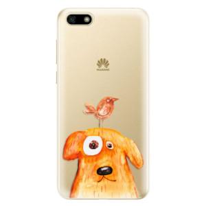 Silikonové odolné pouzdro iSaprio - Dog And Bird na mobil Huawei Y5 2018
