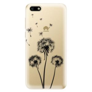 Silikonové odolné pouzdro iSaprio - Three Dandelions - black na mobil Huawei Y5 2018