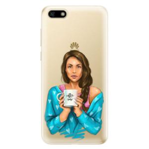 Silikonové odolné pouzdro iSaprio - Coffe Now - Brunette na mobil Huawei Y5 2018
