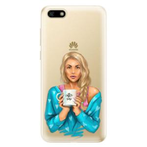 Silikonové odolné pouzdro iSaprio - Coffe Now - Blond na mobil Huawei Y5 2018