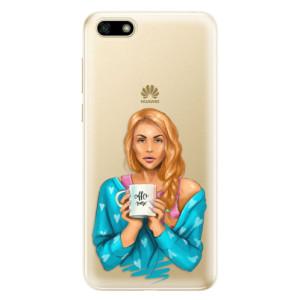 Silikonové odolné pouzdro iSaprio - Coffe Now - Redhead na mobil Huawei Y5 2018