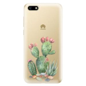 Silikonové odolné pouzdro iSaprio - Cacti 01 na mobil Huawei Y5 2018